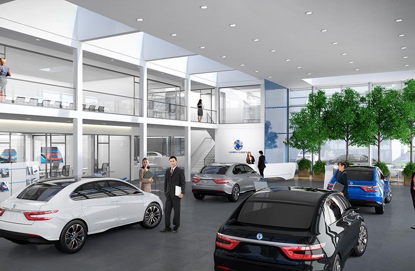 DENZA, China - Digitale Planung des Showrooms