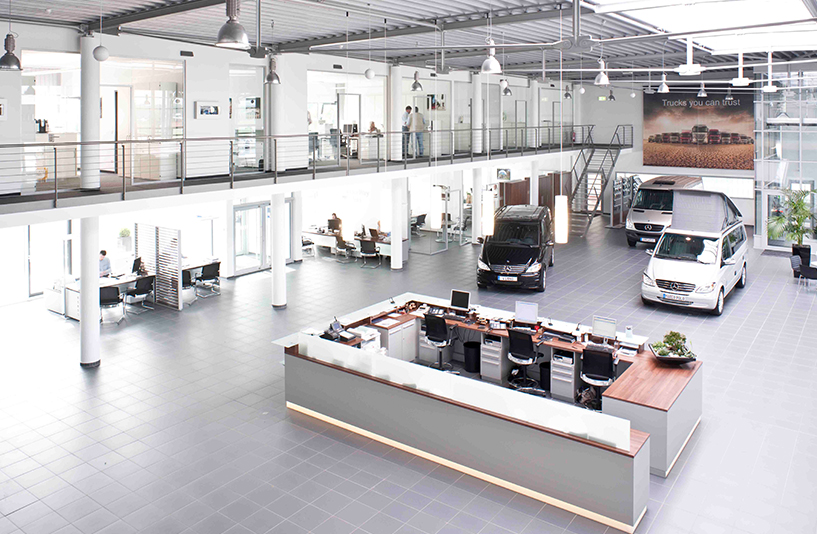 Mercedes-Benz NFZ-Zentrum Eschweiler – Gesamtübersicht über das Erdgeschoss