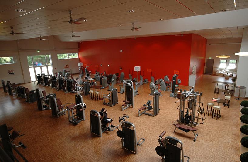 Fitness Park Horn - Krafttrainingsbereich aus der Vogelperspektive