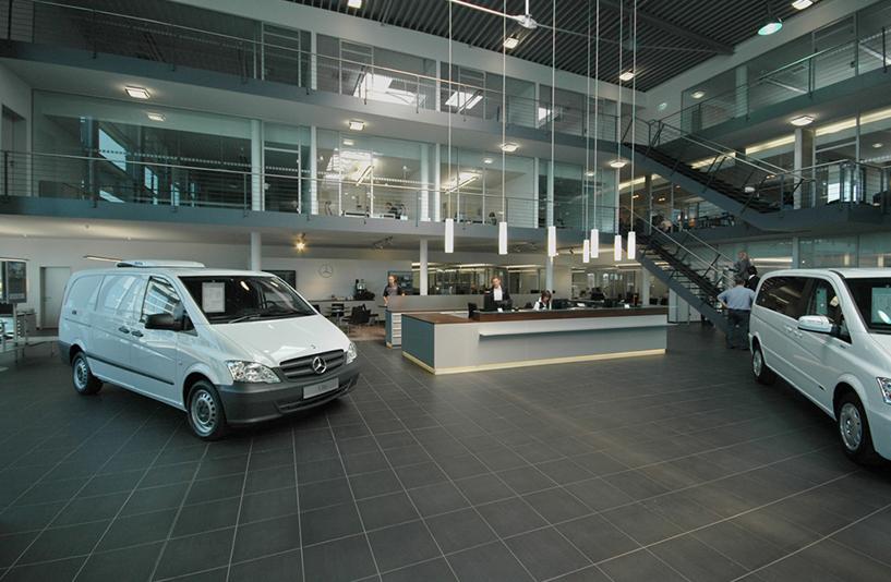 Mercedes-Benz NFZ-Zentrum Augsburg - Rezeption