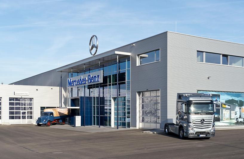 Mercedes-Benz NFZ-Zentrum Augsburg - Eingangsbereich