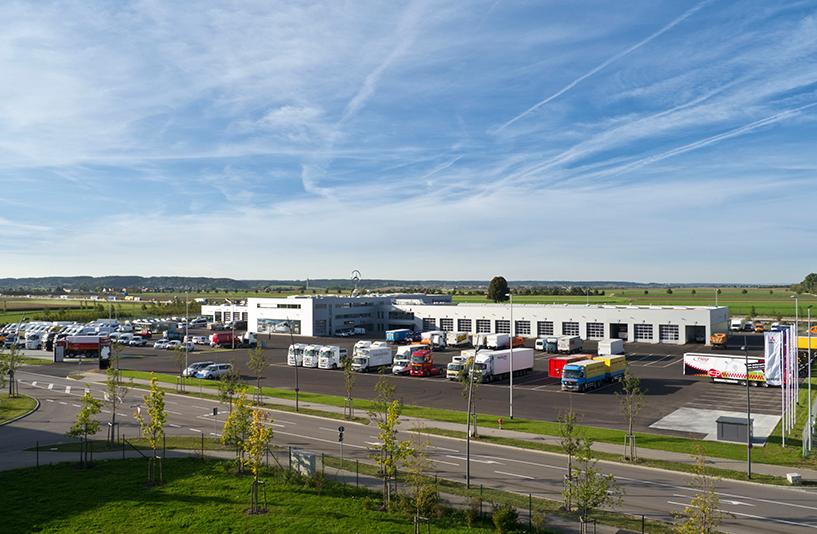 Mercedes-Benz NFZ-Zentrum Augsburg - Gesamtansicht