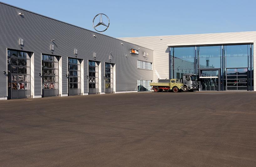 Mercedes-Benz NFZ-Zentrum Kassel – Außenansicht