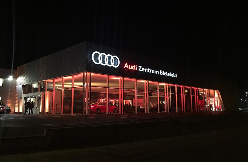 Audi Zentrum Bielefeld - Lichtdetails