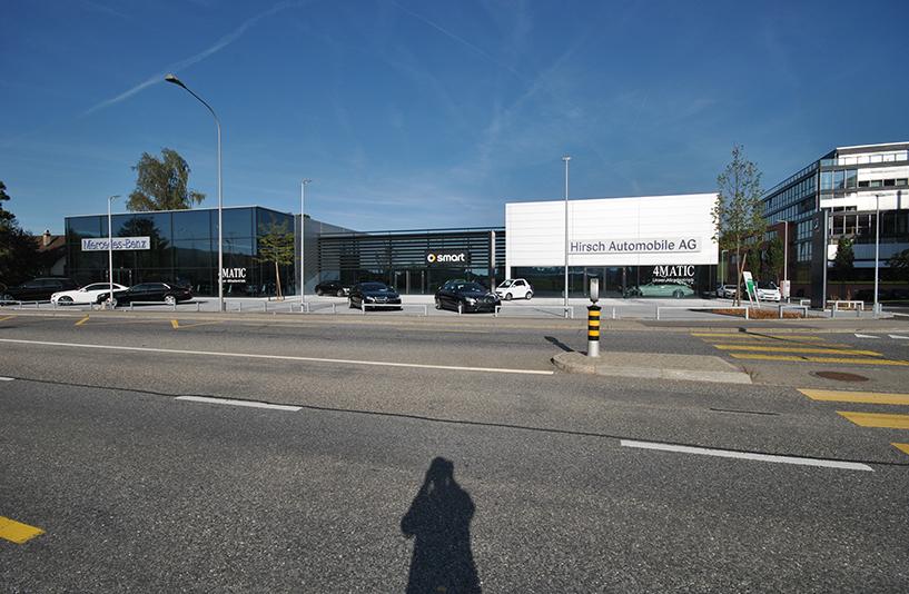 Autohaus Hirsch - Straßenansicht