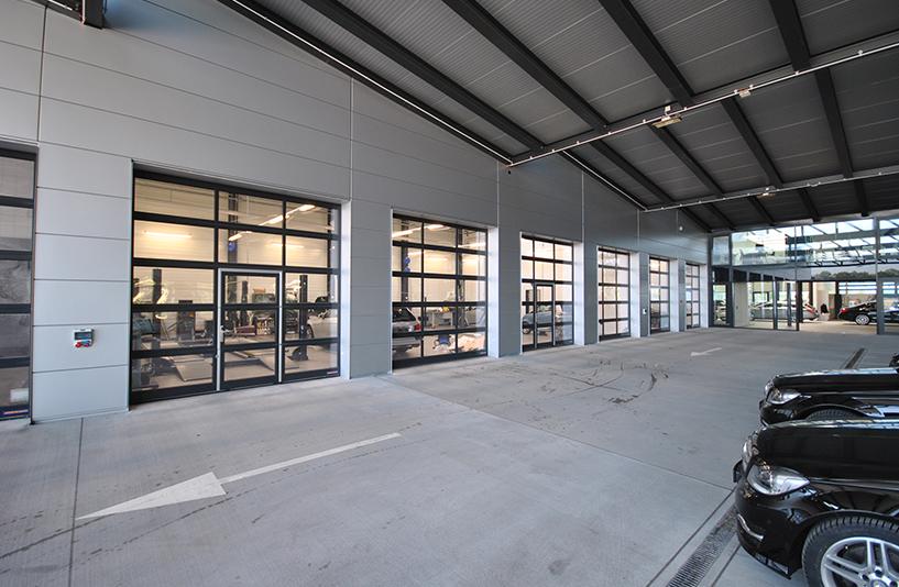 Autohaus Hirsch - Werkstatt von Außen