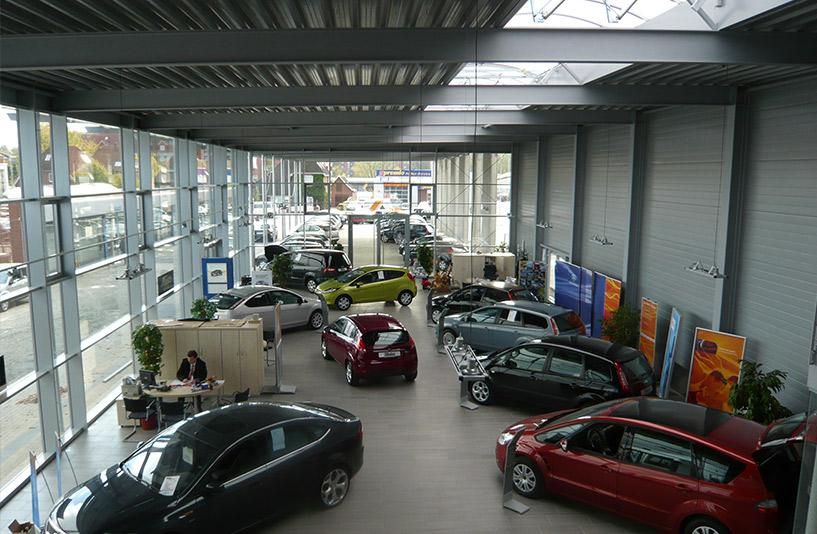 Ford Tobaben - Showroom aus der Vogelperspektive